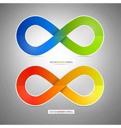 Colorful Paper Infinity Symbols vector