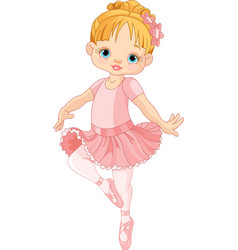 Cute little ballerina vector