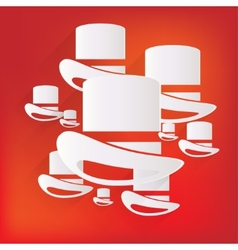 cylinder hat icon vector image