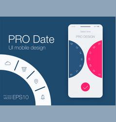 date application ui design concept stock vector image