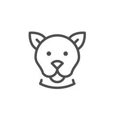 dog line icon vector image