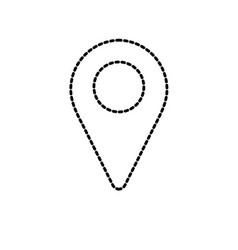 Dotted shape location symbol to search in the map vector