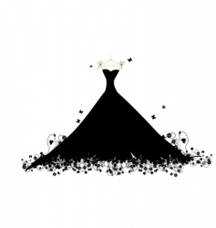 Dress black vector