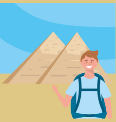 Egyptian pyramids design vector