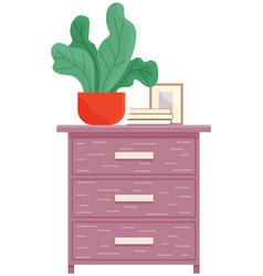 Elements living room furniture vector