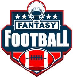 fantasy football badge logo design vector image