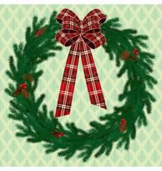 Fir wreath vector
