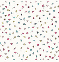 floral rustic pattern with flowers graphic design vector image