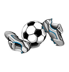 football boots ball vector image vector image