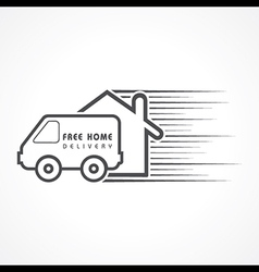 Free Home Delivery concept for increase the sell vector