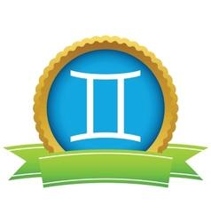 Gold Gemini logo vector image