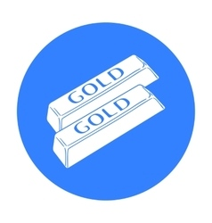 Golden bars icon in black style isolated on white vector