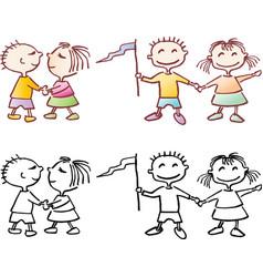 happy mood vector image