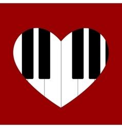 Heart love music vector