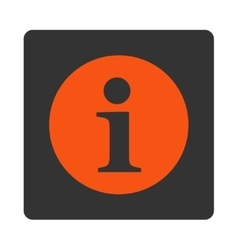 Information flat orange and gray colors rounded vector