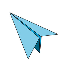 isolated paperplane design vector image