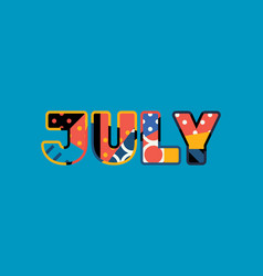 july concept word art vector image