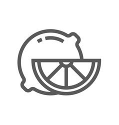lemon line icon vector image
