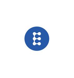 letter e icon alphabet symbol vector image
