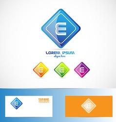 Letter e rhombus logo vector image
