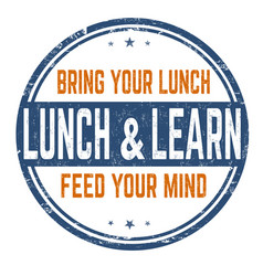 lunch and learn sign or stamp vector image
