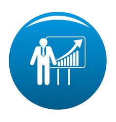 man with diagram icon blue vector image