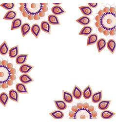 mandala frame background vector image