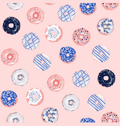 multicolored donuts vector image vector image