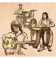 Music band - an hand drawn vector