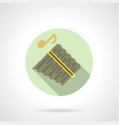 music lessons panpipes flat round icon vector image