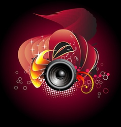 Music speaker design vector