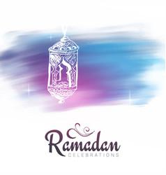 Muslim feast of the holy month of ramadan kareem vector