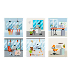 office interior interior office room with vector image