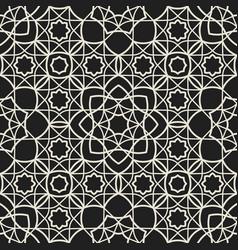 Ornamental arabic muslim seamless pattern islam vector