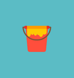 Paint bucket icon flat element vector