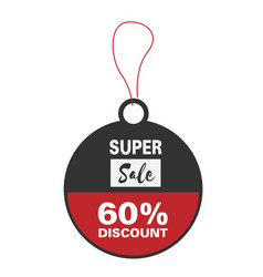 price tag super sale 60 discount image vector image