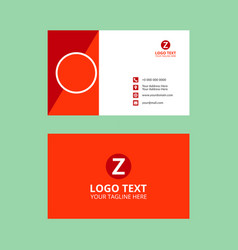 Red business card classic vector
