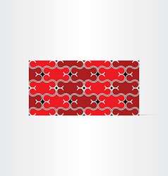 Red decorative seamless background vector