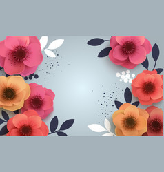 red flowers with a realistic shadow to bannnera or vector image