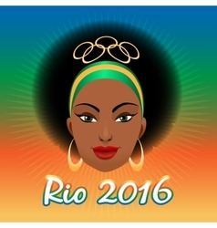 Rio olympic games emblem vector