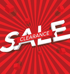 Sale clearance vector image