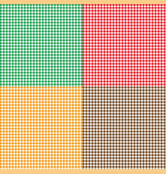 set of colorful seamlessly repeatable patterns vector image