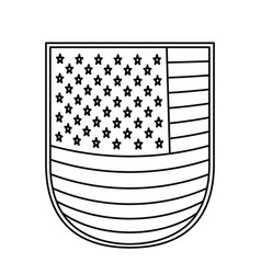 shield with flag united states of america vector image