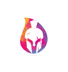 Spartan drop shape concept logo vector