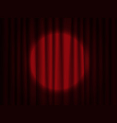 spotlight on stage curtain theatrical drapes vector image