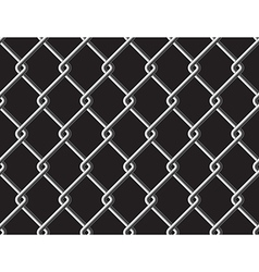 Steel mesh metalic fance black seamless background vector