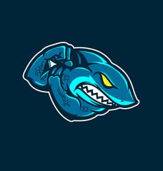 Strong shark insignia vector