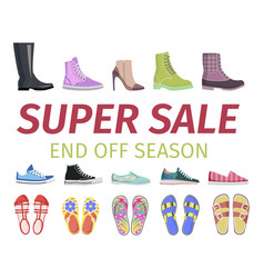 Super sale end off season shoes set vector