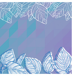 triangle background with leaves vector image