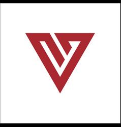 v letter logo icon inspirations unique single vector image